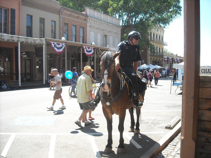 Sacramento Sheriff's Department Mounted Patrol.  Old Sacramento