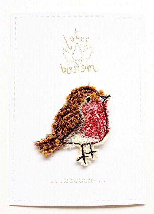 Tumblr sleepyslowsnow: robin brooch by sarah dodd