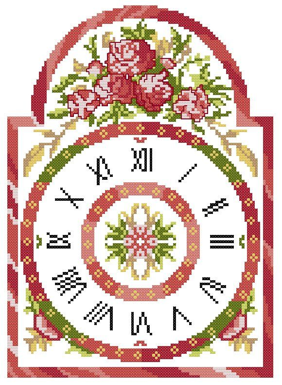 floral clock  To get the chart, click on the first line under the photo