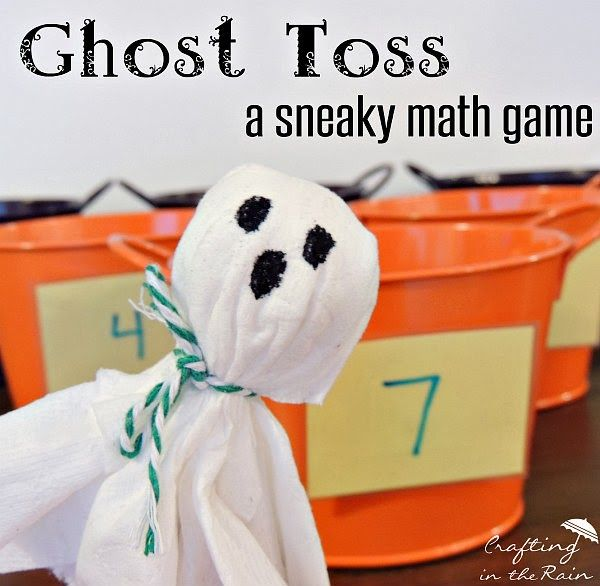 Ghost Toss Halloween Math Game | Crafting in the Rain