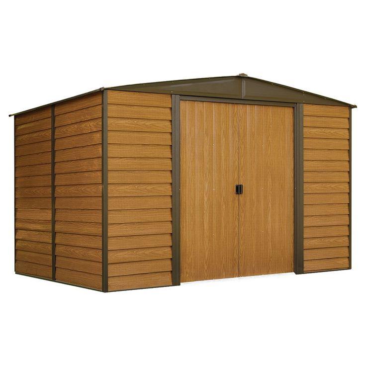 Woodridge Steel Storage Shed 10' X 8' - Arrow Storage Products, Wood