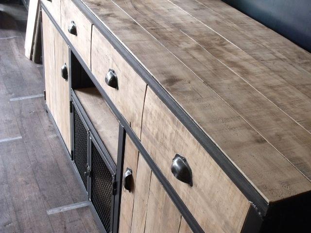Meuble buffet bois de palette - MICHELI Design