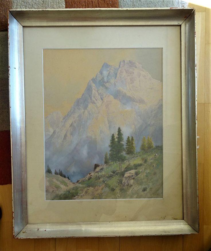 Lienz Osttirol Kärnten Franz Moro Aquarell Art Deco Lienzer Dolomiten Original