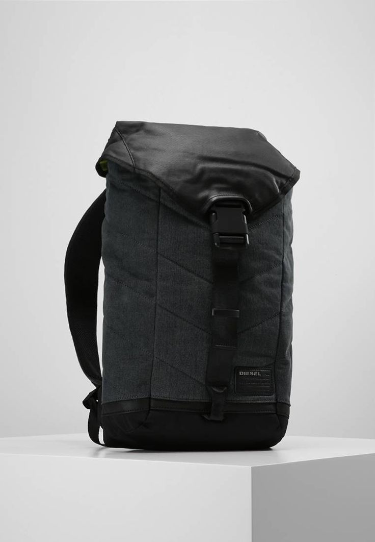 """Diesel. V-DENIM GROUP - Rucksack - blau/schwarz. Fastening:Snap fastener. Compartments:laptop compartment,mobile phone pocket. length:13.0 """" (Size One Size). width:4.5 """" (Size One Size). Lining:textile. carrying handle:2.5 """" (Size One Size). Fabr..."""