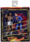 """One of the most famous matches of all time comes to action figure form!In 1978, legendary boxer Muhammad Ali proved that he truly was """"the greatest of all time"""" by defeating the strongest man on Earth - Superman. Far from a grudge match, this battle in the pages of DC Comics' historic Superman vs. Muhammad Ali would ultimately set the two up to save the planet from an alien invasion. Now for the first time ever, that iconic team-up comes to action figure form in a stylized"""