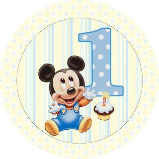 LARGE PRINTABLE SET Mickey Baby – Kit Completo com molduras para convites, rótulos para guloseimas, lembrancinhas e imagens! | Fazendo a Nossa Festa