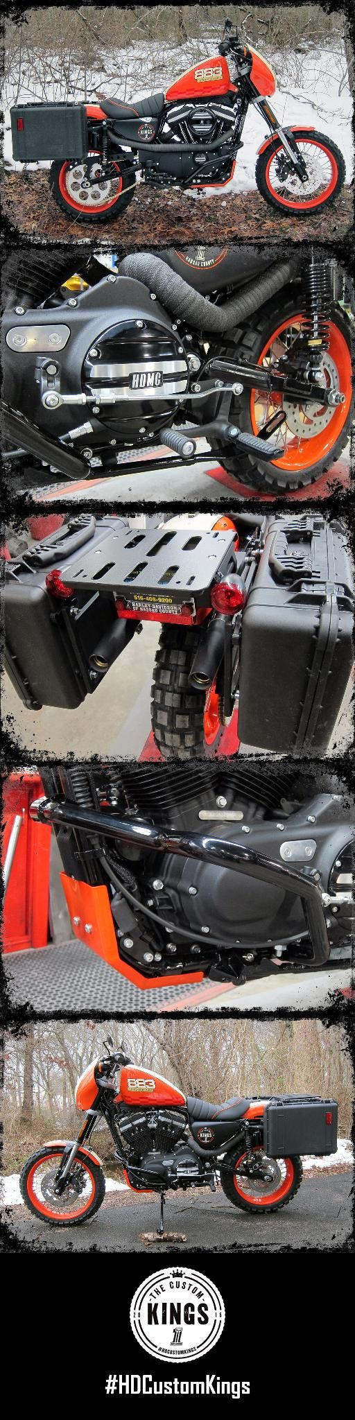 Harley-Davidson of Nassau County's goal was to build an all terrain bike from scratch using a stock Iron 883. | Harley-Davidson #HDCustomKings