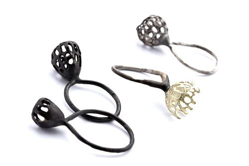 Anna Vlahos Rings: Basi 2012 Sterling Silver, Sterling silver and 18ct gold