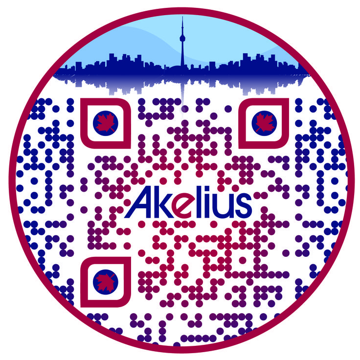Check out this #SuperCool custom designed QR Code for  Akelius by The RentSeeker.ca Team