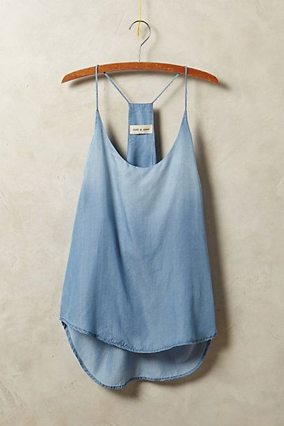 Chambray Racerback Tank #anthropologie