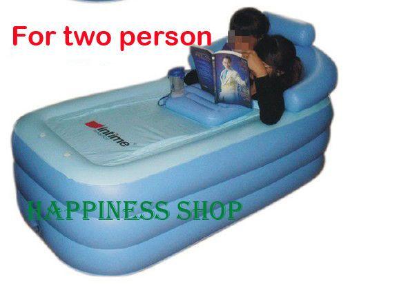 NEW Adult PVC folding Portable bathtub inflatable bath tub Air Pump Fast Ship