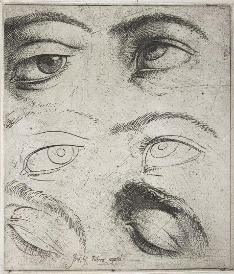 Jusepe de Ribera - Studies of Eyes, c. 1622 | Harvard Art Museums