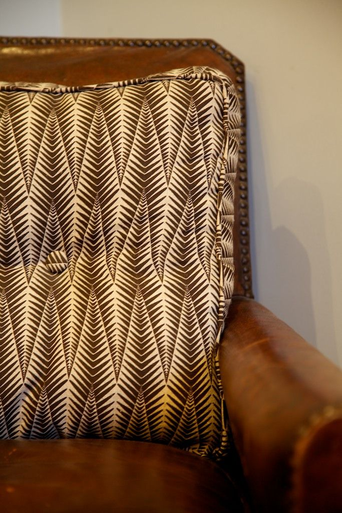 A Neisha Crosland fabric box cushion