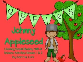This product is geared toward first and second grade students. A week's worth of fun Johnny Appleseed Activities.Here's what you get:9 Literacy Pages ~ Graphic Organizers for Reading Comprehension/Listening Comprehension (read aloud)5 Math Pages to strengthen numeracy2 Science Pages ~ An easy science experiment using apples.Check out the preview for a better look.More Back to School Products:Back to School ~ Hello!