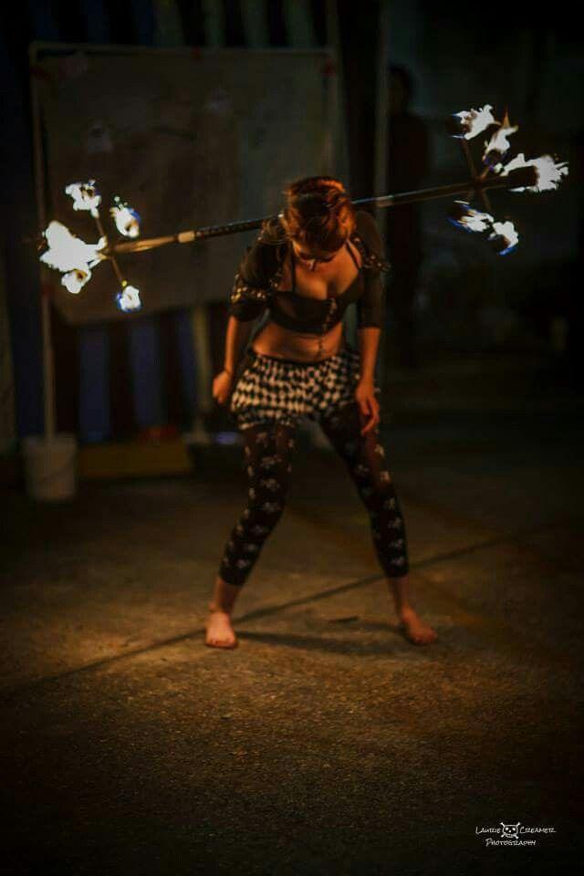 #firedancer #fireflow #firespinning #girlonfire #dragonstaff