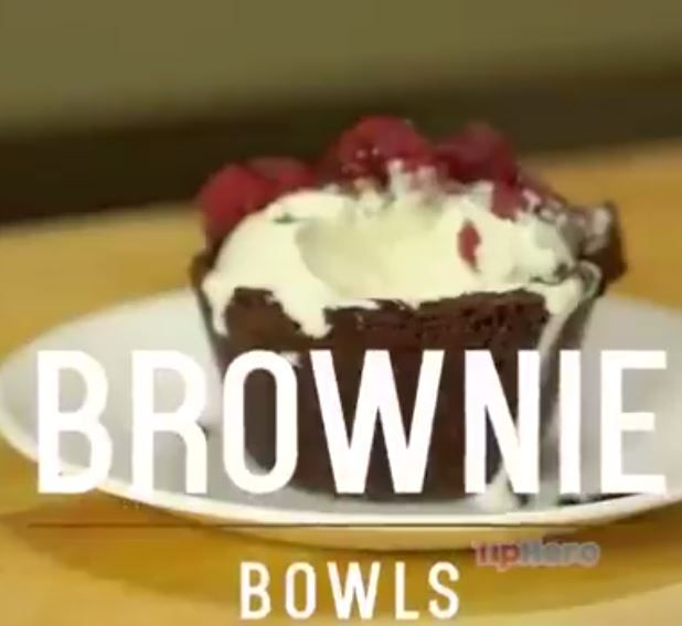 https://www.facebook.com/ViralVideosUS/videos/1629939840603916/ basically brownie batter in cupcake things. then put cooking spray on bottom of a second cupcake pan and smoosh it. bake with both, then serve with ice cream in brownie bowl