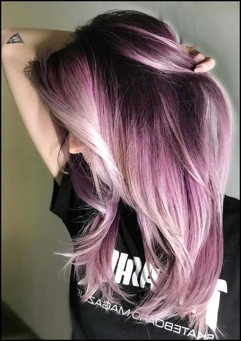 42 erstaunliche Schattenwurzel Pastell rosa Haarfarbe Ideen für 2018 # haar