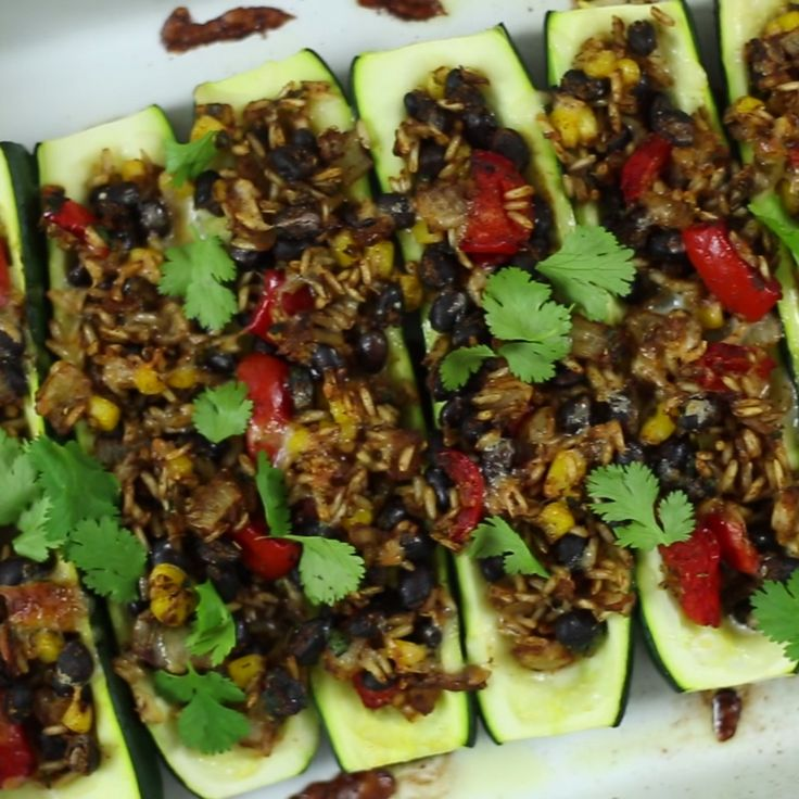 Who knew zucchinis were the perfect vessel for Mexican flavor?