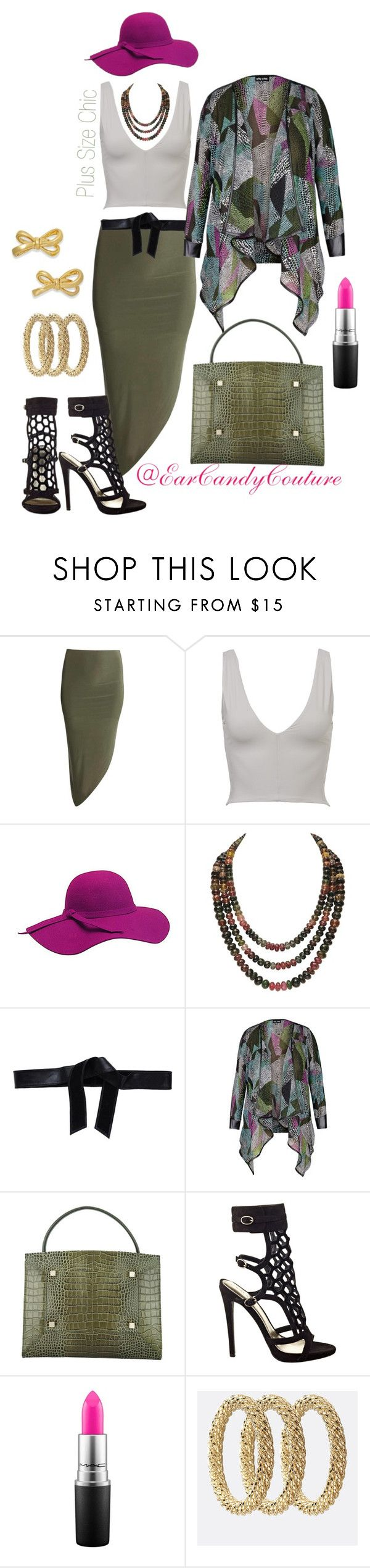 """Untitled #154"" by curvaceouscutie on Polyvore featuring Boardwalk Style, Roÿ Roger's, Manurina, Nine West, MAC Cosmetics, Avenue and Kate Spade"