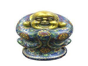 Chinese Antique Colour Enamels and 24 Grams of Gold Buddha