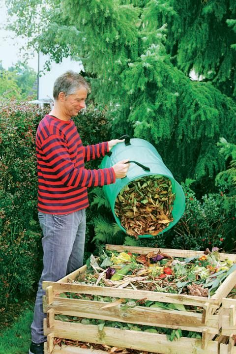 Kompost anhäufen