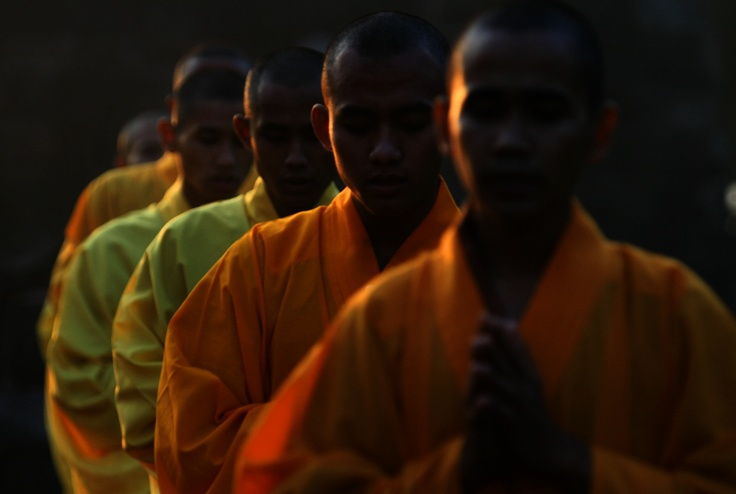 Monks - Borobudur, Central Java