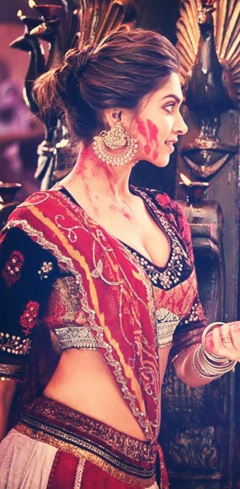 "Movie: ""Ram & Leela"" (Gholi ki rasleela: ram leela) Scene in the song ""Lahu Munh Lag Gaya"". Deepika Padukone as Leela."