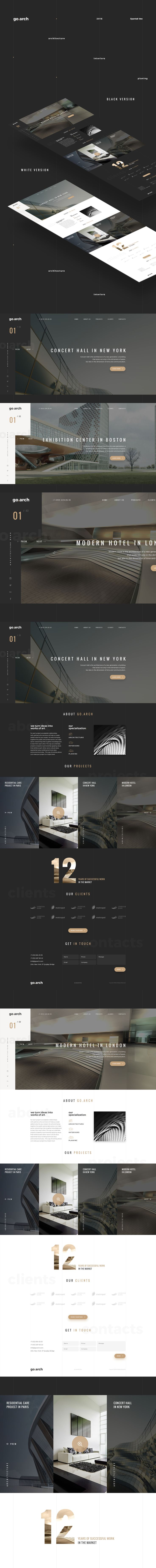 Architecture buro website.