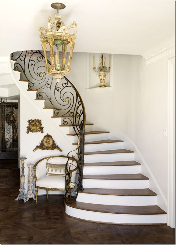 89 best decorating stairs images on pinterest home ideas beautiful iron staircase greentooth Image collections