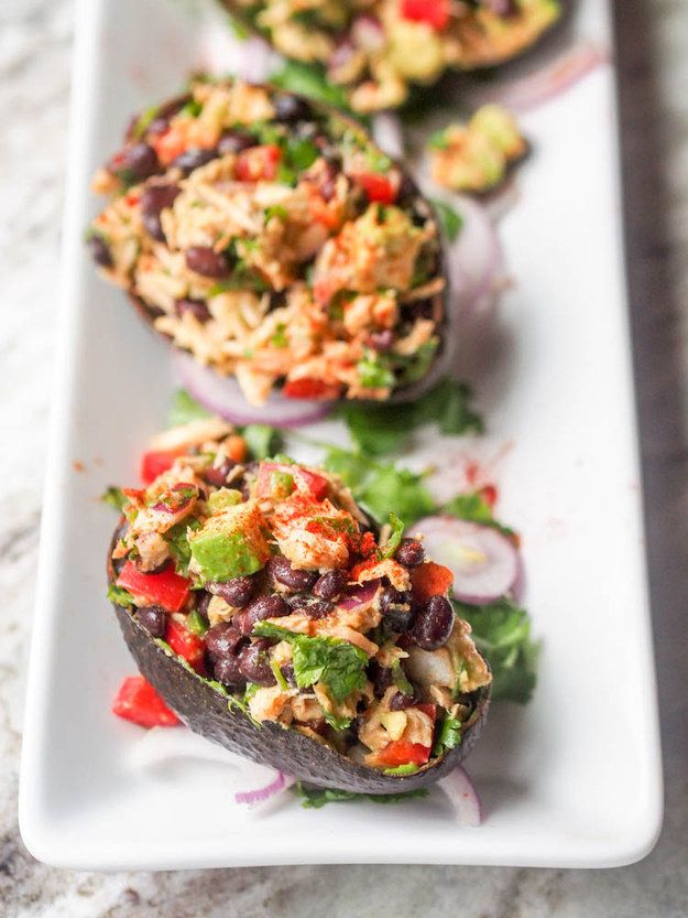 Mexican Tuna Salad With Avocado   23 Low-Carb Dinners Under 500 Calories That Actually Look Good AF