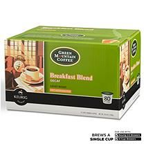 Green Mountain Coffee Breakfast Blend Decaf K-Cup Packs – 80 ct.