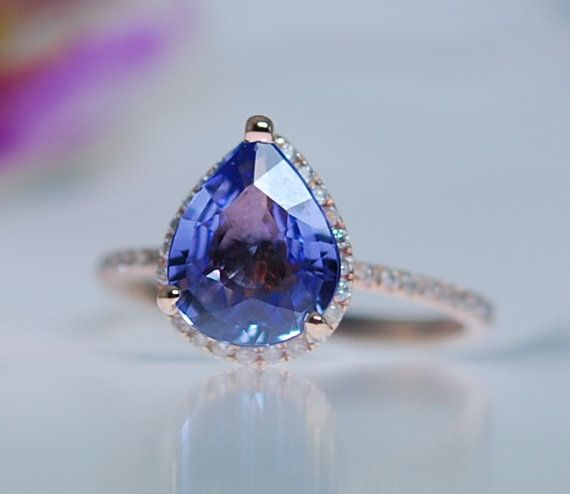 Hey, I found this really awesome Etsy listing at https://www.etsy.com/listing/214863175/blue-sapphire-engagement-ring-14k-rose