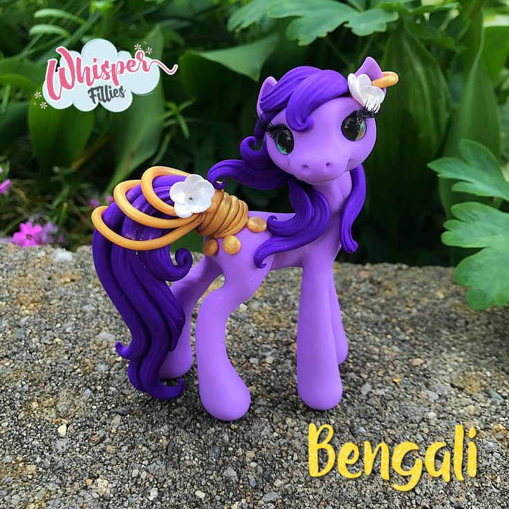 Whisper Fillies Bengali Bollywood India inspired horse pony figurine. Handmade from Polymer Clay  Visit my etsy page whisperfillies.etsy.com for more little Filly cuteness.