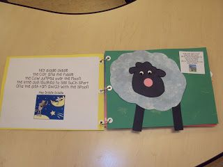 make a nursery rhyme book, super cute