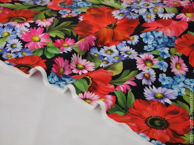 Купить -20% D&G пунто милано , Италия - разноцветный, итальянские ткани, итальянская ткань, вискоза