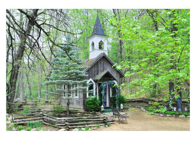 Little Chapel In The Woods Near Waupaca Wi On The