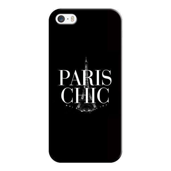 iPhone 6 Plus/6/5/5s/5c Case - Paris Chic Black & White Eiffel Tower found on Polyvore