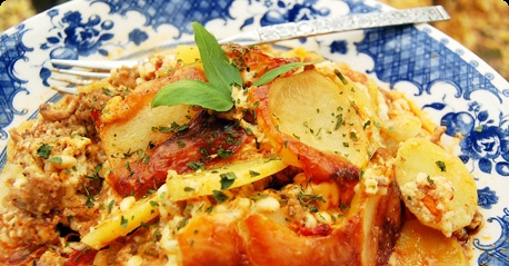 Pehtoorin perunaloora / Traditional meat-and-potato casserole