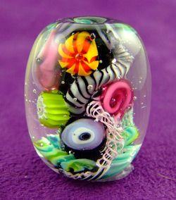 How to make a quark Corinabeads -Lampwork beads by Corina Tettinger