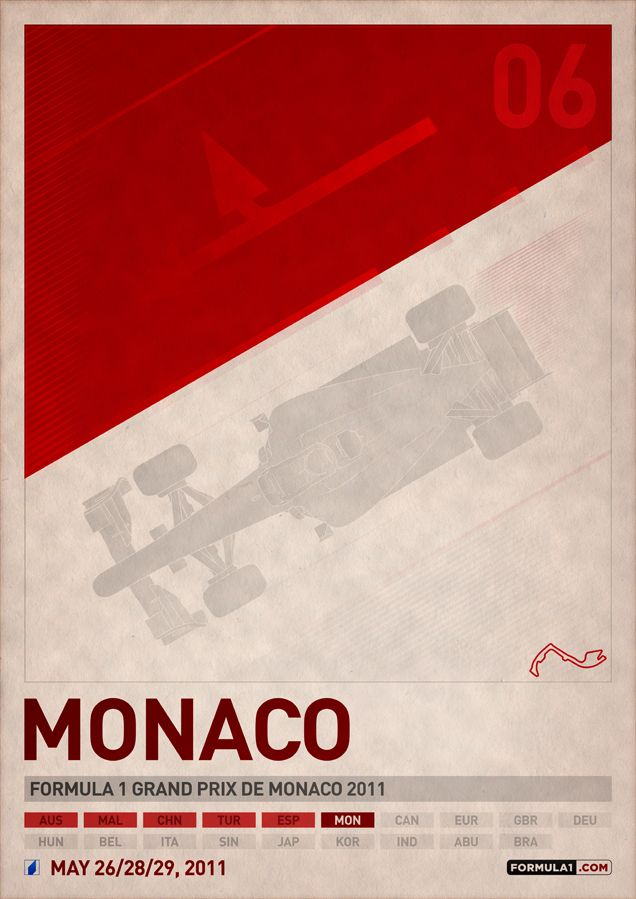 Irish artist PJ Tierney created a set of 19 posters to celebrate the 2011 Formula 1 World Championship season. The posters were inspired by James White's T
