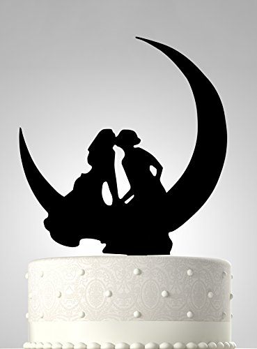 buy now   $11.99     (adsbygoogle = window.adsbygoogle || []).push();  Add a special touch to your wedding cake with Rubies & Ribbons' charming two women in moon lesbian cake topper! Featuring the silhouettes of two brides kissing on the moon, it will be a great symbol of...