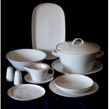 Jídelní souprava pro 6 osob, Thun 1794, karlovarský porcelán, TOM 29965