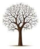 Векторный силуэт дерева ветви cron — стоковый вектор #5783405