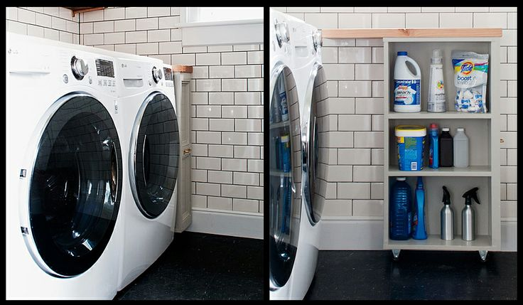 Clever! http://manhattan-nest.com/2014/05/28/the-laundry-room-is-done/