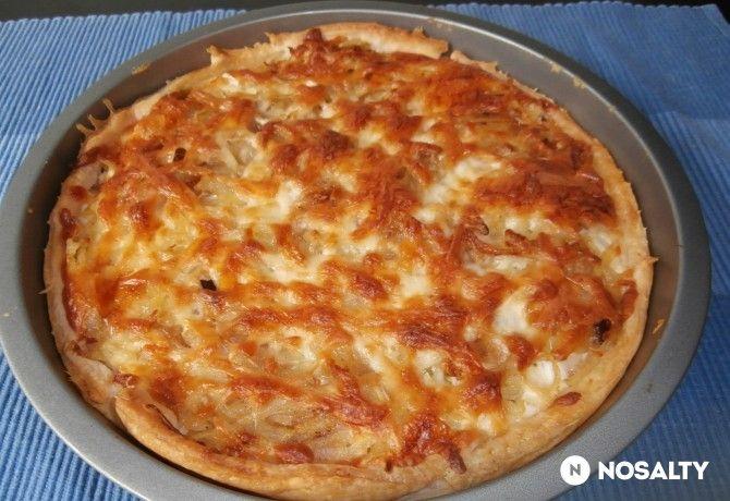 Tejfölös-túrós pite reszelt burgonyával