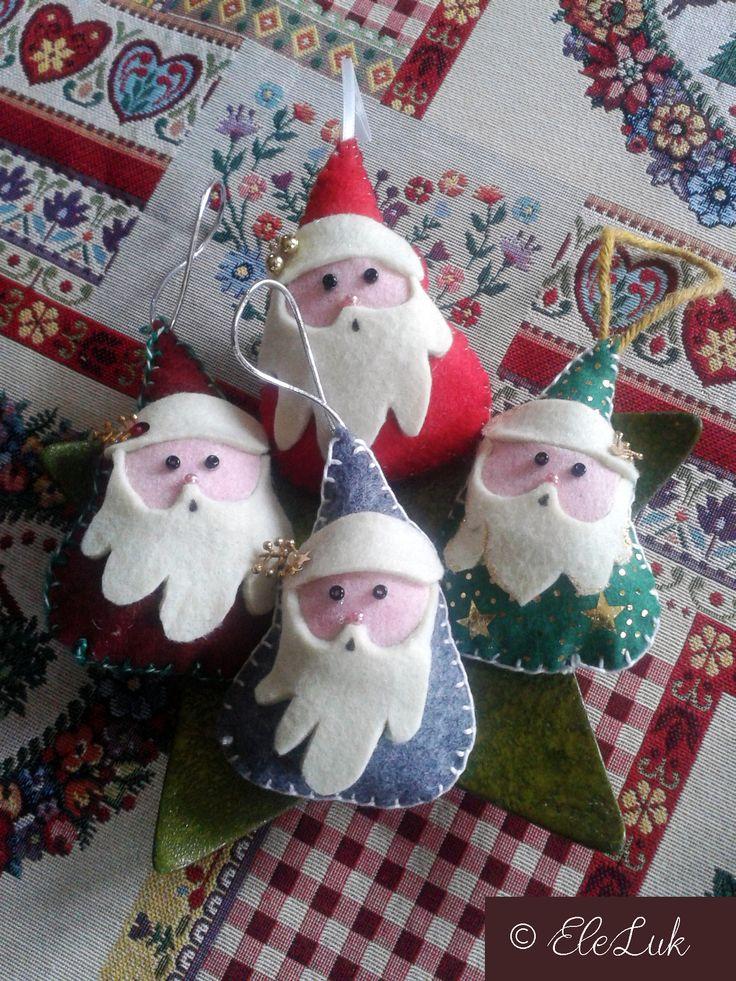 Babbi Natale o gnomi? #feltro #handmade #natale #christmas #decorations #felt