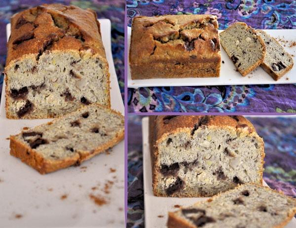 Pound cake de banano, almendras y chocolate by No me olvides! #poundcake #bananacake #chocolate #nuts #sweet #nomeolvides