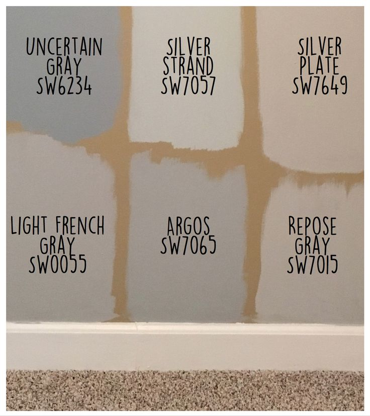 Sherwin Williams Paint Colors- Repose Gray and Light French Gray are gorgeous on the walls! colors: uncertain gray, silver strand, silver plate, light french gray, argos, repose gray (no filter) https://noahxnw.tumblr.com/post/160769051736/hairstyle-ideas