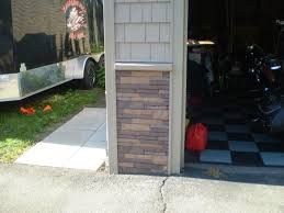 Image result for faux stone front for garage pillars