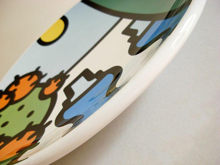 Piatto decorativo artigianale in maiolica - Diametro cm 30 [particolare]